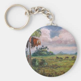 Wild Boar Hunting Keychain
