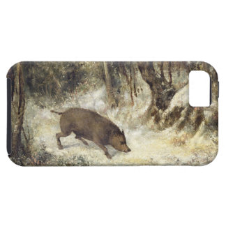 Wild Boar in the Snow, signed as Courbet (fake) iPhone SE/5/5s Case