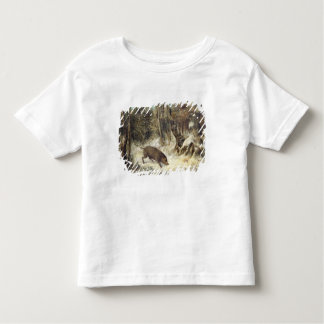 Wild Boar in the Snow, signed as Courbet (fake) Toddler T-shirt