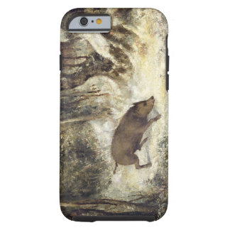 Wild Boar in the Snow, signed as Courbet (fake) Tough iPhone 6 Case