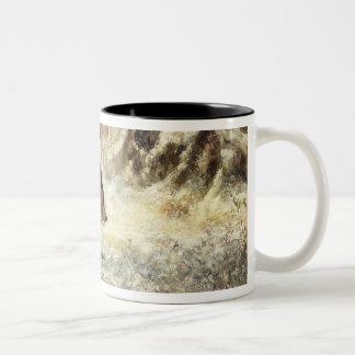 Wild Boar in the Snow, signed as Courbet (fake) Two-Tone Coffee Mug