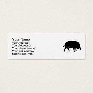Wild boar mini business card