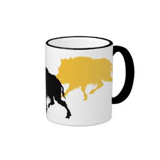 Wild Boar on the Run - Antique German Print Coffee Mugs