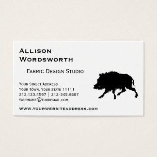 Wild Boar or Wild Pig Elegant Silhouette Business Card