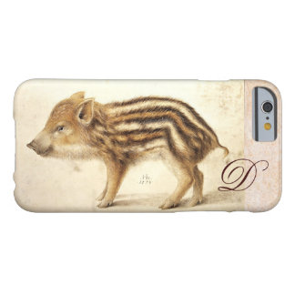 WILD BOAR PIGLET MONOGRAM BARELY THERE iPhone 6 CASE