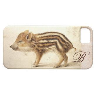 WILD BOAR PIGLET MONOGRAM iPhone SE/5/5s CASE