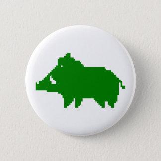- Wild boar swipes in a HEAT IN ADVANCE Pinback Button
