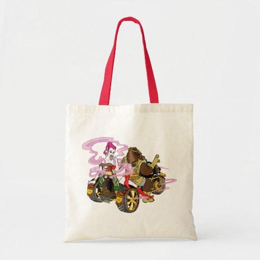 Wild boar Trike riders イノトライク Tote Bags