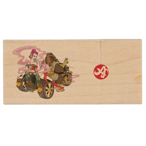 goddess, buddhist, fortune, trike, 弁天, トライク, wild, boar, イノシシ, smoke, 煙, pink, ピンク, 紫, purple, kimono, 着物, bikini, ビキニ, ブーツ, 和風, イラスト, pop, ポップ