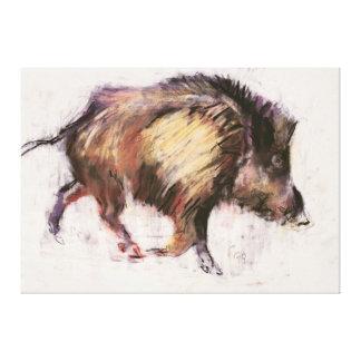 Wild Boar Trotting 1999 Canvas Print
