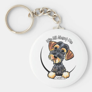 Wild Boar Wirehaired Dachshund Its All About Me Basic Round Button Keychain