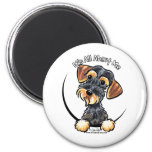 Wild Boar Wirehaired Dachshund Its All About Me Refrigerator Magnets