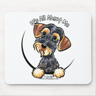 Wild Boar Wirehaired Dachshund Its All About Me Mouse Pad