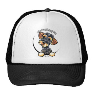 Wild Boar Wirehaired Dachshund Its All About Me Trucker Hat