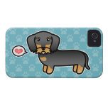 Wild Boar Wirehaired Dachshund Love iPhone 4 Case-Mate Cases