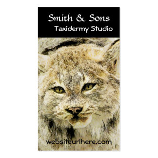 Wild Bobcat Taxidermy Photographic Art Business Card Template