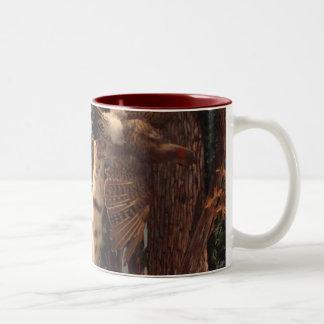 Wild Bobcat Two-Tone Coffee Mug
