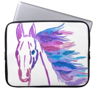 Wild Bohemian Horse Laptop Sleeve By Megaflora