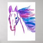 Wild Bohemian Horse Poster By Megaflora