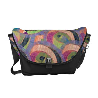 Wild Bold Colorful Abstract - Gliftex Messenger Bags