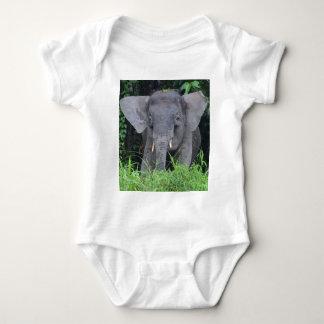 wild Borneo Elephant Baby Bodysuit