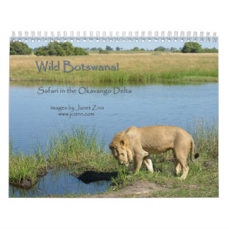 Wild Botswana! Safari in the Okavango Delta Calendar