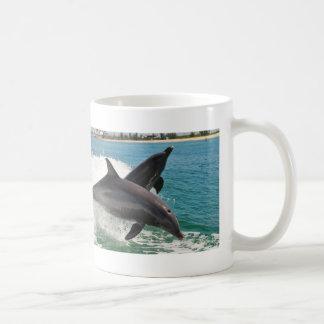 Wild Bottlenose Dolphins Jumping Sanibel FL Mug