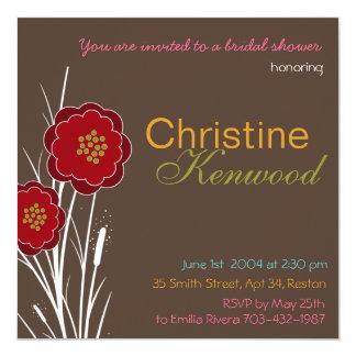 Wild Bouquet Bridal Shower Invitation