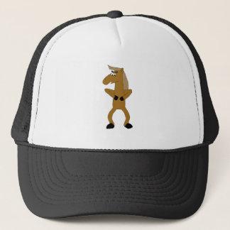 Wild Brown Cartoon Horse Trucker Hat