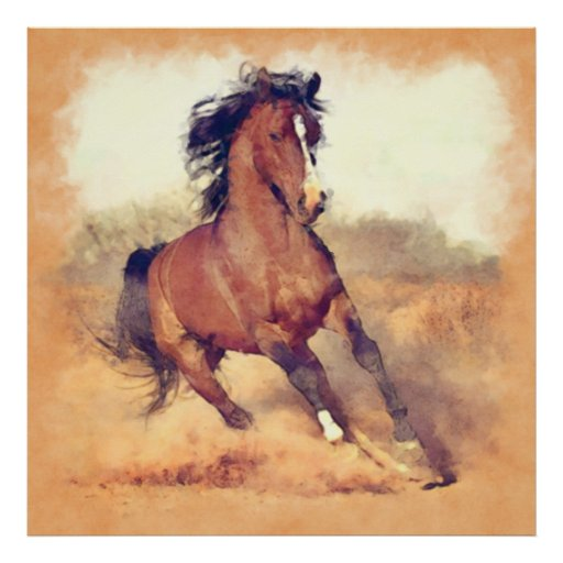 Mustang horse painting - photo#3