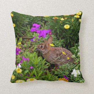 Wild Brown Rabbit Photography Throw Pillow