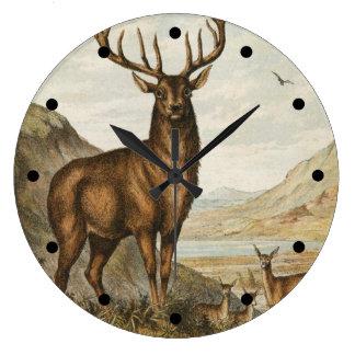 Wild Buck Large Clock