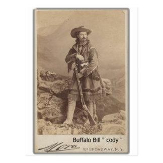 wild buffalo bill cody cabinet photo postcard