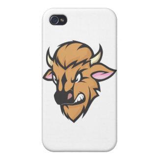Wild Buffalo Cartoon Cases For iPhone 4