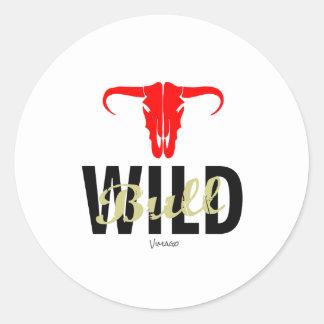 Wild Bull by VIMAGO Classic Round Sticker
