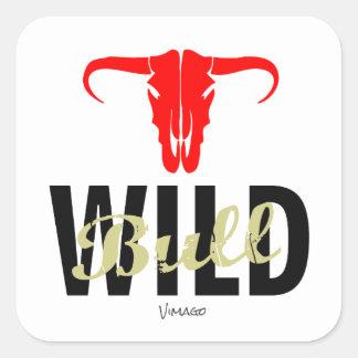 Wild Bull by VIMAGO Square Sticker