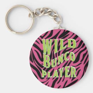 Wild Bunco Player Graphic Design Basic Round Button Keychain