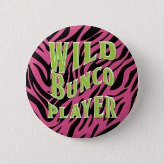 Wild Bunco Player Graphic Design Pinback Button