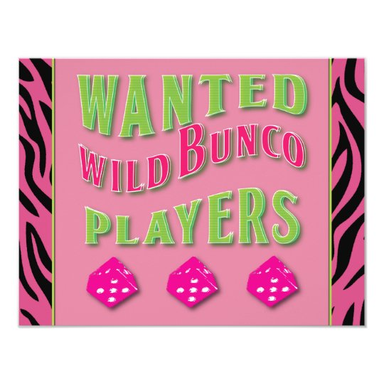 Wild Bunco Players Invitation Zazzle Com