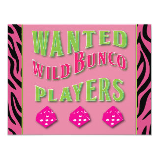 Wild Bunco Players Invitation