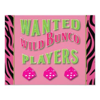 Wild Bunco Players Invitation