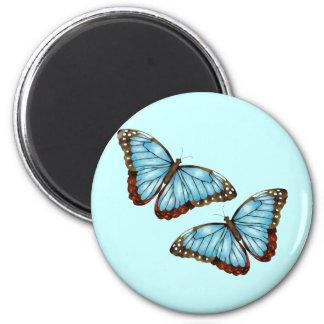 Wild Butterflies 2 Inch Round Magnet