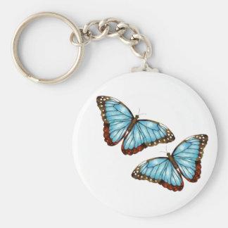 Wild Butterflies Basic Round Button Keychain