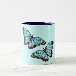 Wild Butterflies Two-Tone Coffee Mug