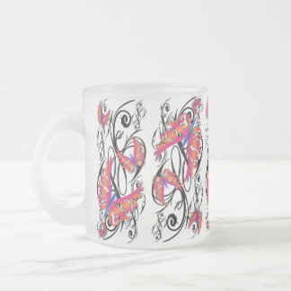 Wild Butterfly Flip Design3, Wild Butterfly Fli... Frosted Glass Coffee Mug
