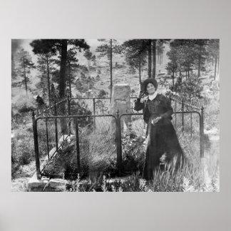 WILD CALAMITY JANE at WILD BILL HICKOK GRAVE 1903 Poster