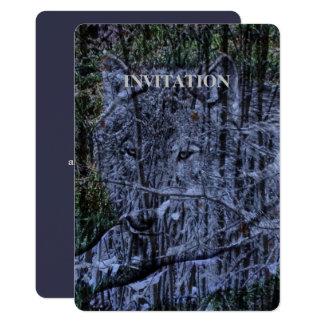 Wild camouflage woodland wildlife Grey wolf Card