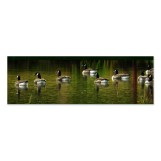 Wild Canada Geese Bookmark Double-Sided Mini Business Cards (Pack Of 20)