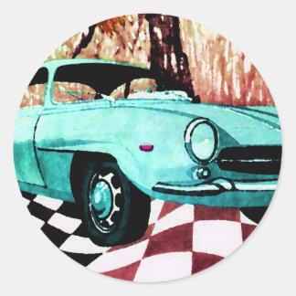 Wild Car - Alfa CricketDiane Art & Design Classic Round Sticker