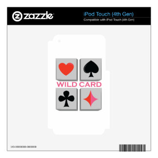 Wild Card Decal For iPod Touch 4G